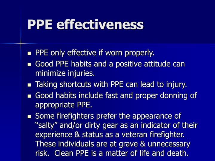 PPE effectiveness