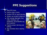ppe suggestions