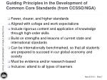 guiding principles in the development of common core standards from ccsso nga