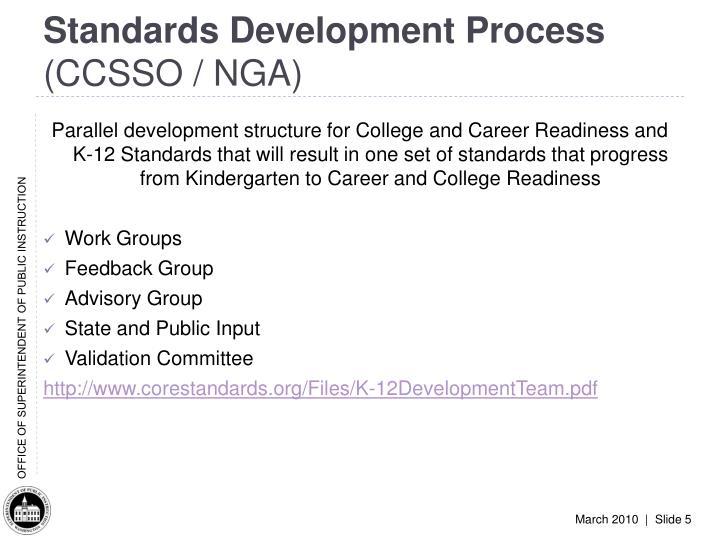 Standards Development Process