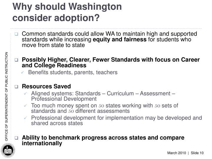 Why should Washington