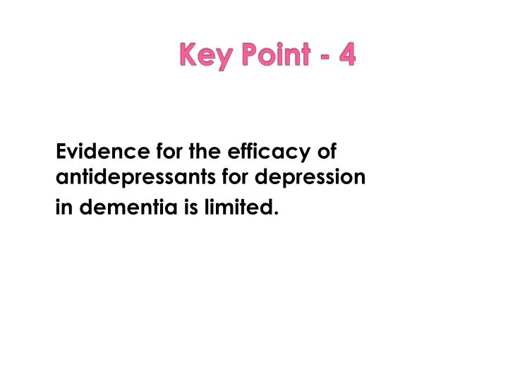 Evidence for the efficacy of antidepressants for depression