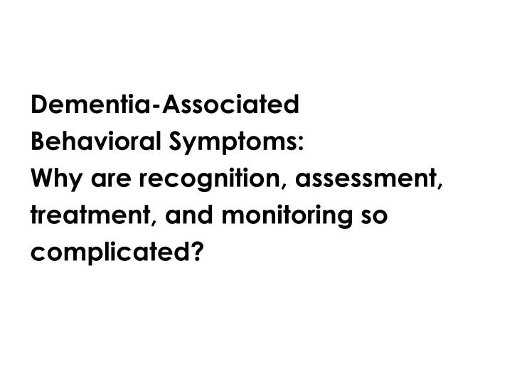Dementia-Associated