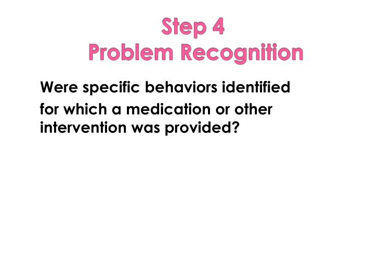 Were specific behaviors identified