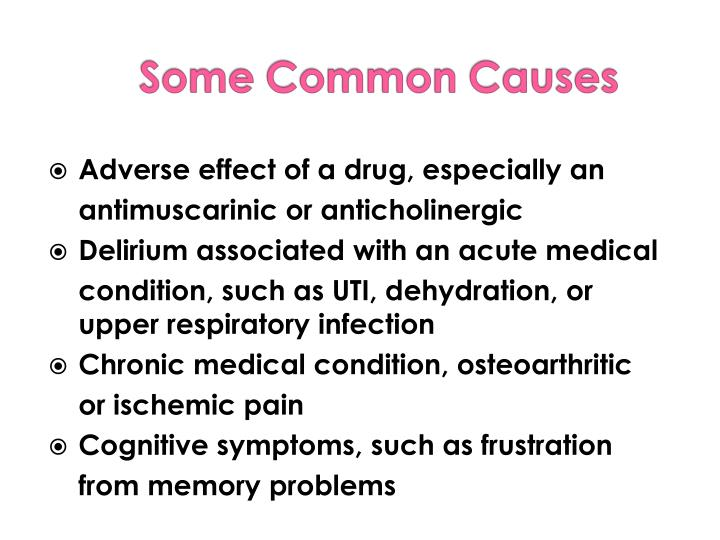 Adverse effect of a drug, especially an