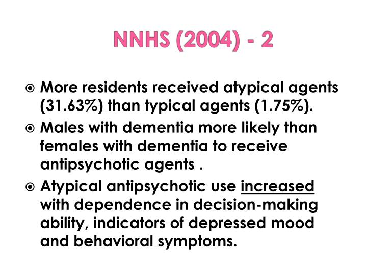 More residents received atypical agents (31.63%) than typical agents (1.75%).
