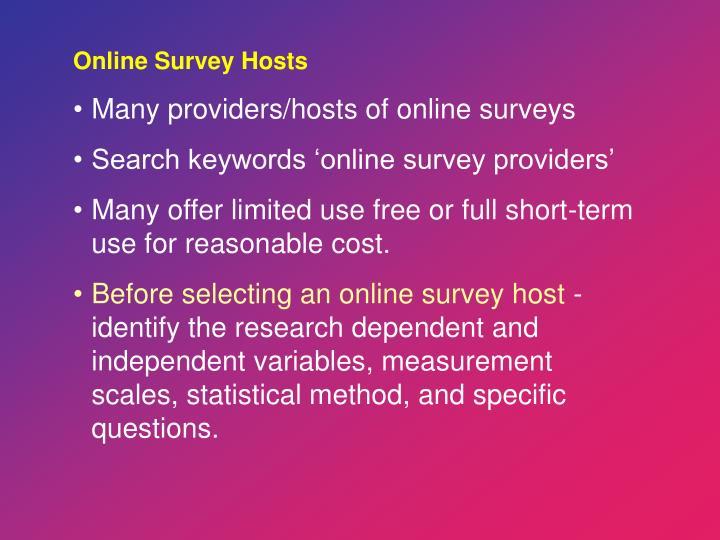Online Survey Hosts
