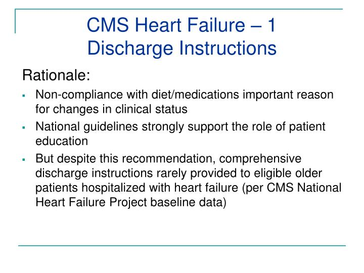 CMS Heart Failure – 1