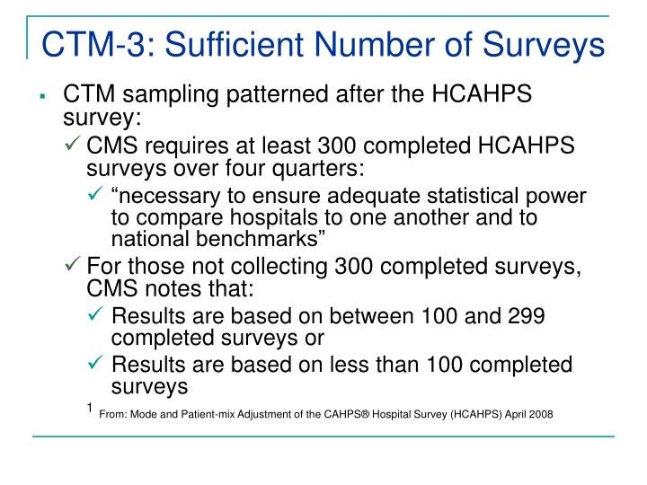 CTM-3: Sufficient Number of Surveys