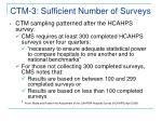 ctm 3 sufficient number of surveys