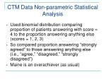 ctm data non parametric statistical analysis