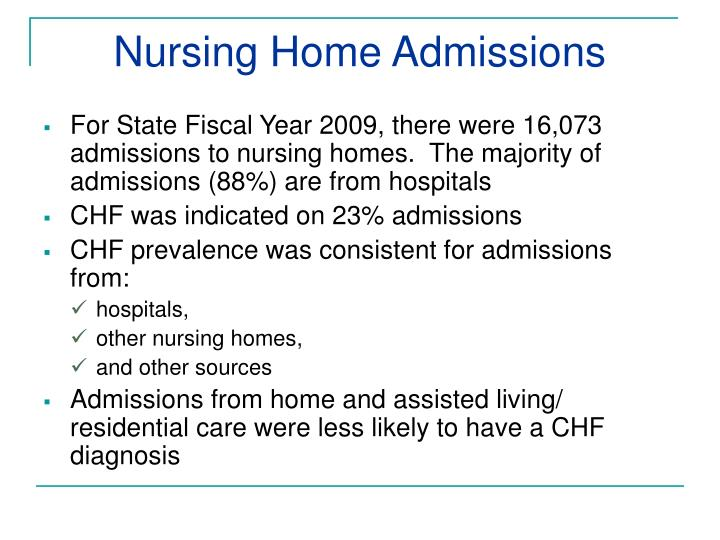 Nursing Home Admissions