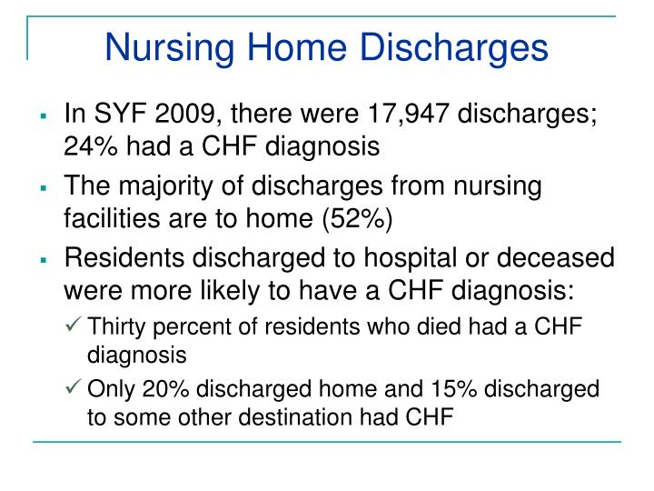 Nursing Home Discharges