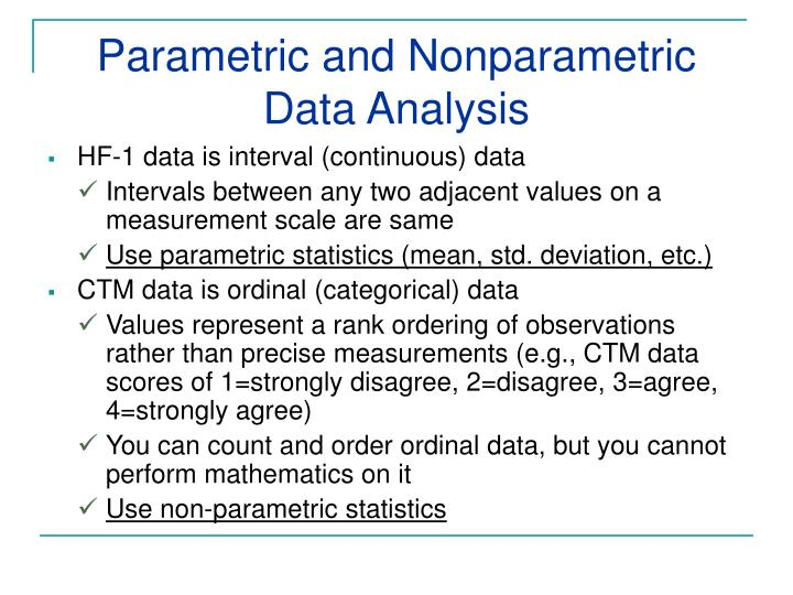 Parametric and Nonparametric Data Analysis