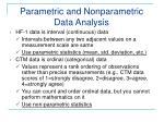 parametric and nonparametric data analysis