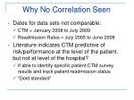 why no correlation seen