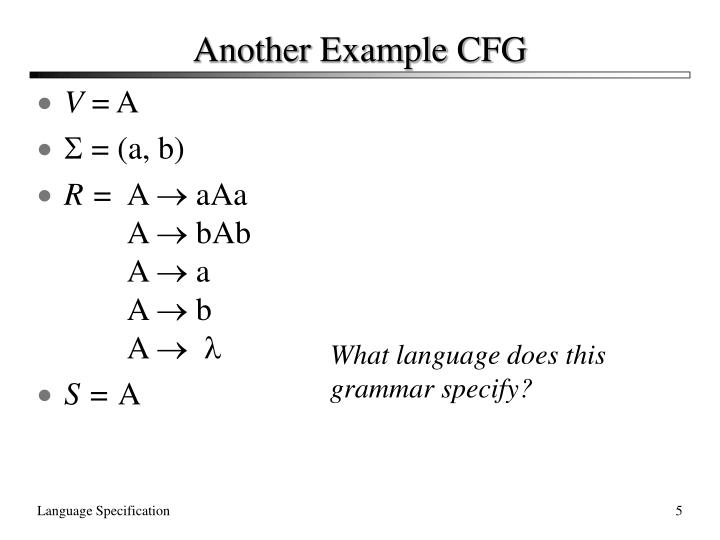 Another Example CFG