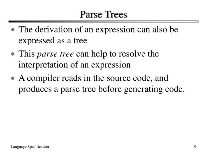 Parse Trees