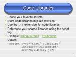 code libraries