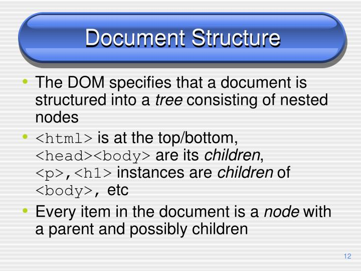 Document Structure