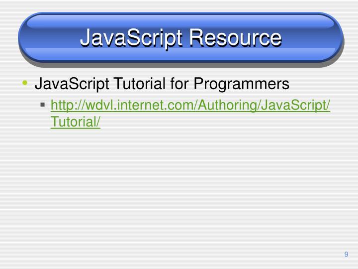 JavaScript Resource