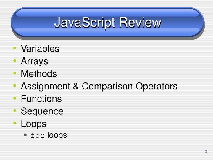 JavaScript Review