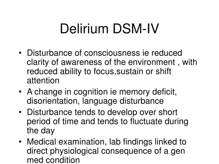 Delirium DSM-IV