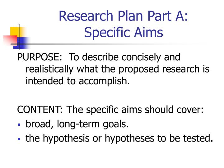 Research Plan Part A: