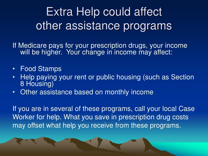 Extra Help could affect