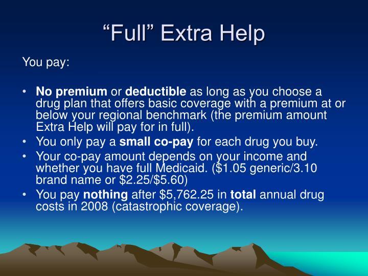 """Full"" Extra Help"
