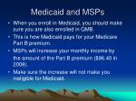 medicaid and msps