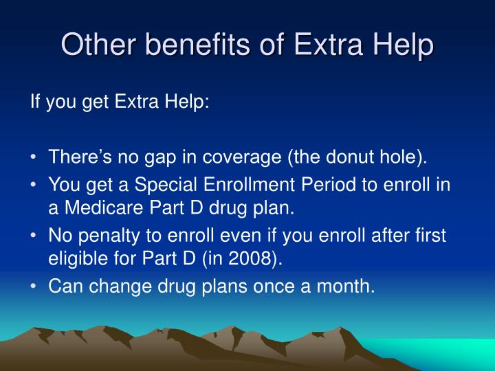 Other benefits of Extra Help