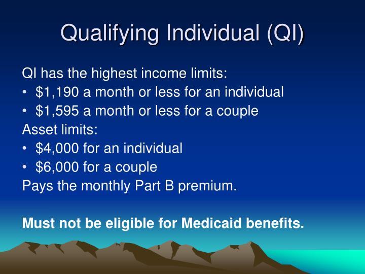 Qualifying Individual (QI)