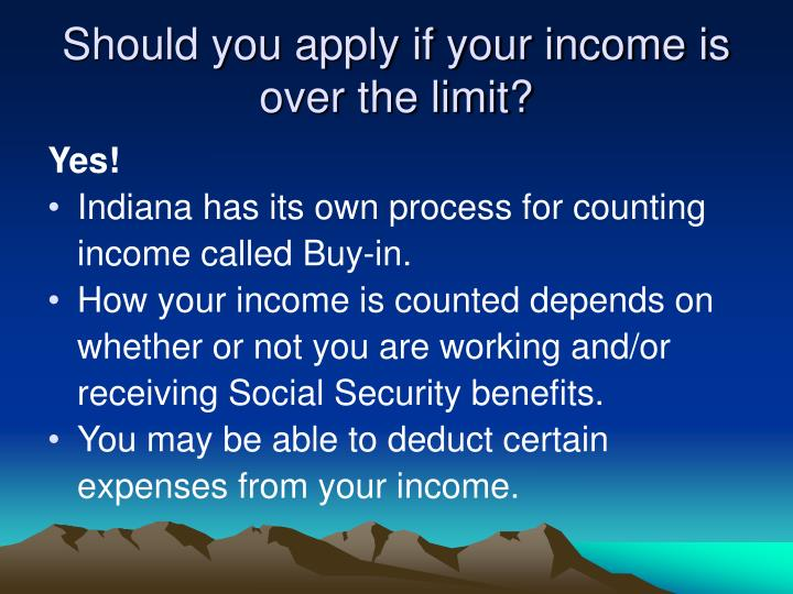 Should you apply if your income is