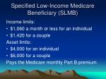 specified low income medicare beneficiary slmb