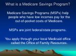 what is a medicare savings program