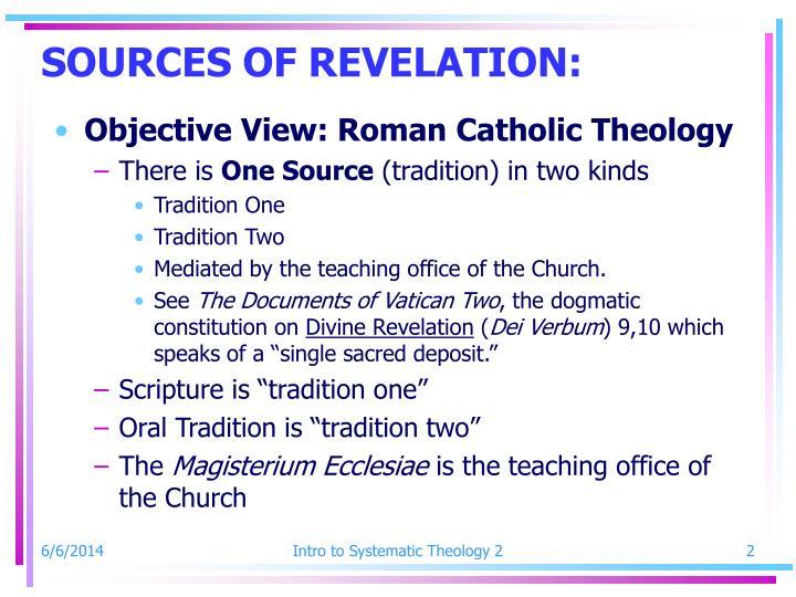 SOURCES OF REVELATION: