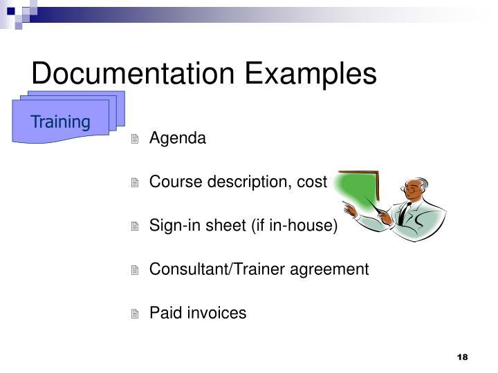 Documentation Examples