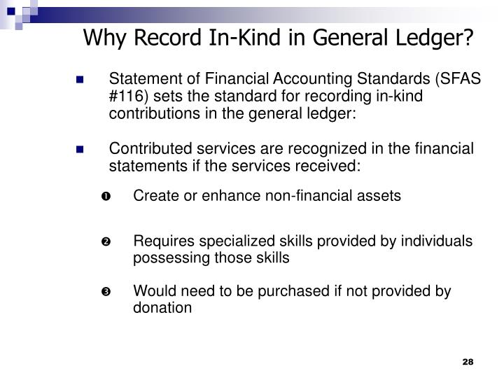 Why Record In-Kind in General Ledger?