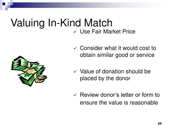 Valuing In-Kind Match