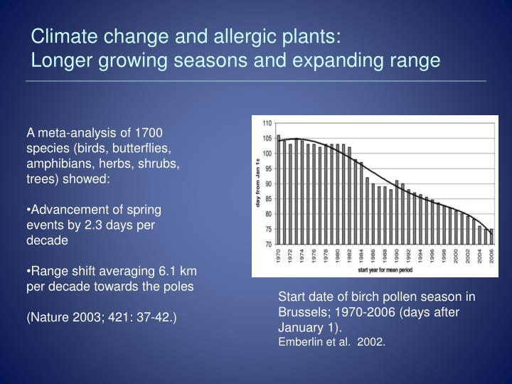 Climate change and allergic plants: