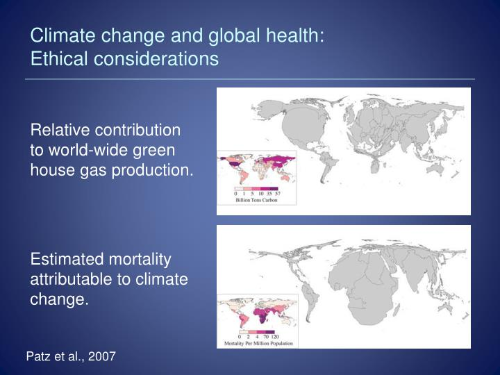 Climate change and global health: