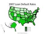 2007 loan default rates