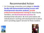 recommended action1