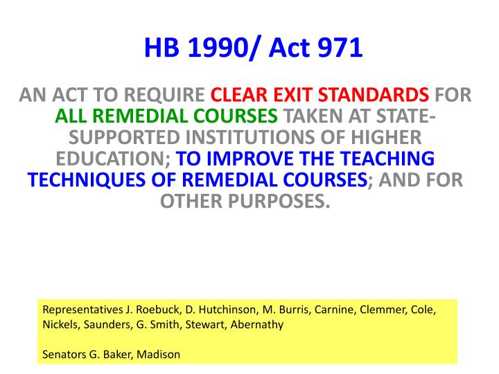 HB 1990/ Act 971