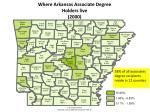 where arkansas associate degree holders live 2000