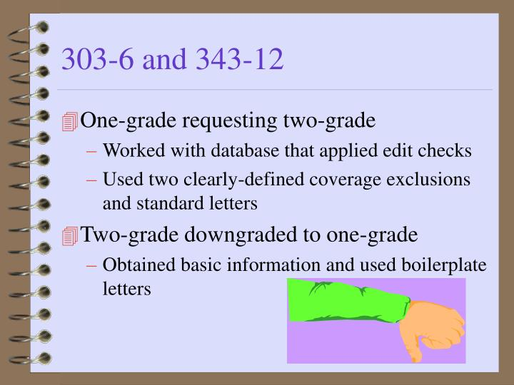 303-6 and 343-12