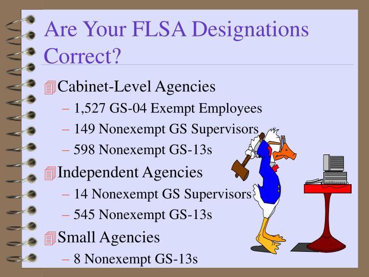 Are Your FLSA Designations Correct?