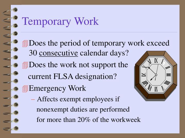 Temporary Work