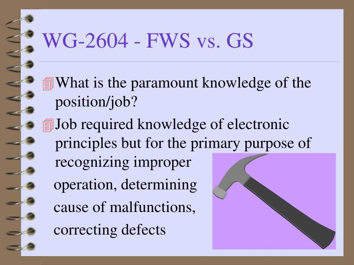 What is the paramount knowledge of the position/job?